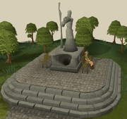 Varrock standbeeld saradomin
