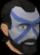 Highland war paint (yellow, male) chathead