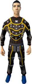 Studded leather armour (g) (male) equipped