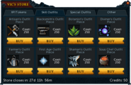 Vic's Store (2015) Skill Outfits Tab