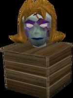 Zombie head in makeup