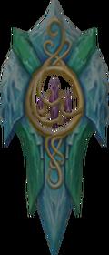 Attuned crystal shield detail