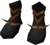 Dragon ceremonial boots detail
