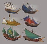 Eastern Lands - Arc ships concept art