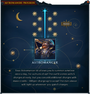 Astromancer credits interface 2
