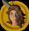 Chocolate hair head token detail