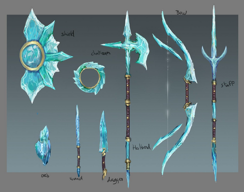 Crystal equipment concept art