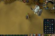 Jogador lutando contra ogro morto-vivo
