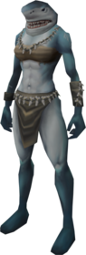 Shark outfit equipped female