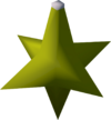 Star bauble (yellow) detail