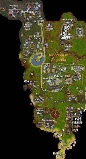 Asgarnia mapa
