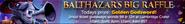Balthazar's Big Raffle lobby banner