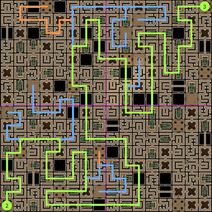 Carte 2 du Labyrinthe de Sliske (solution)