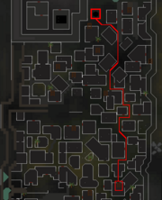 Darkness of Hallowvale mine route map