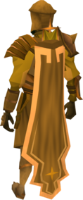 Golden warpriest of Saradomin cape equipped