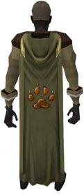 Hooded hunter cape equipped