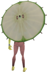 Apple parasol equipped