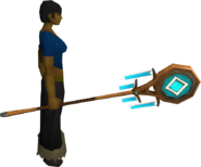 Banner of Seren (tier 2) equipped