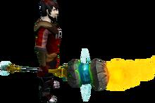 Elemental battlestaff equipped