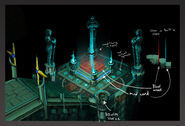 The Death of Chivalry puzzle room concept art