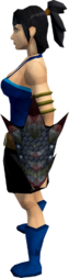 Black dragonhide shield equipped