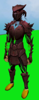 Sirenic armour set (blood) equipped