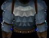 Werewolf torso (dark grey, male) detail