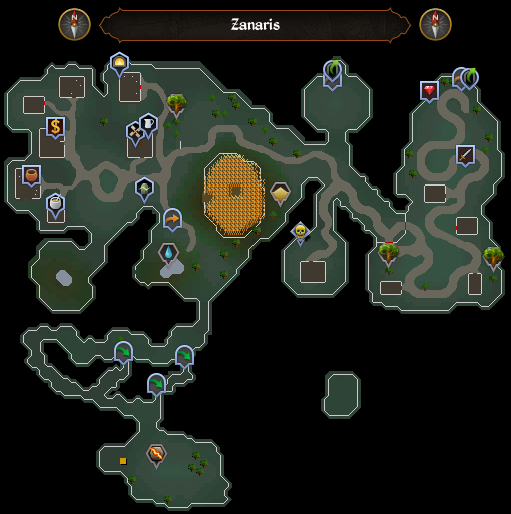 on zanaris map