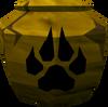 Cracked hunter urn (unf) detail