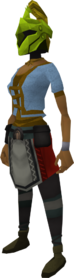 Rune heraldic helm (Jogre) equipped