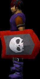 Steel kiteshield (Skull) equipped