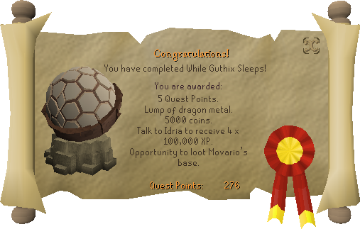 While Guthix Sleeps complete