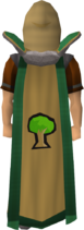 Woodcutting cape trimmed
