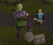 A Player Listening to Music