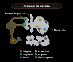 Asgarnian Ice Dungeon map