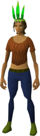 Chompy bird hat (woodsman) equipped