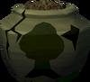 Cracked woodcutting urn (full) detail