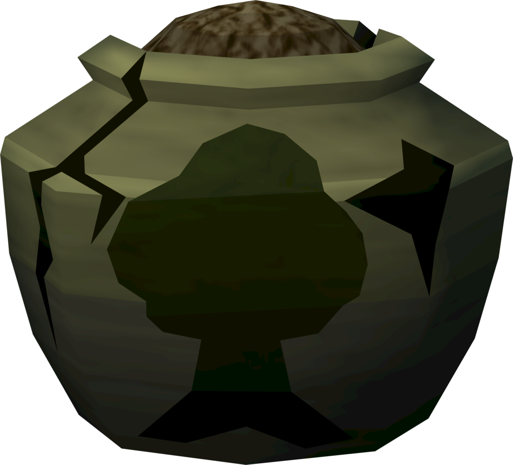 Cracked woodcutting urn (full) detail