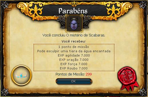 O Mistério de Scabaras recompensas