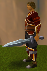 Off-hand iron ceremonial sword I equipped