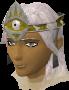 A player wearing headband