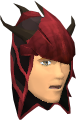 Blessed dragonhide coif (Zamorak) chathead