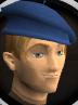 Blue beret chathead