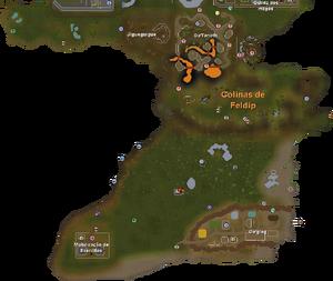 Colinas de Feldip mapa