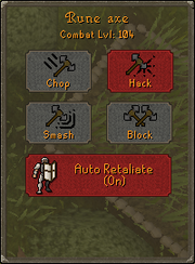 Combat interface