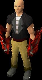 Garras dragônicas equipadas