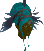 Gossamer Feathered Headdress (female) chathead