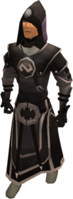 Void knight mage helm equipped