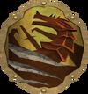 Anti-dragon throwing disc detail