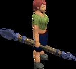 Argonite spear equipped